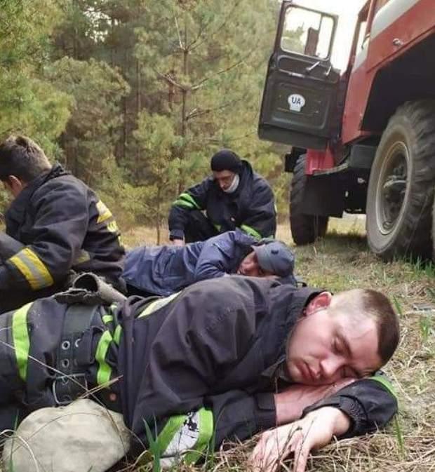 пожежі біля Чорнобиля
