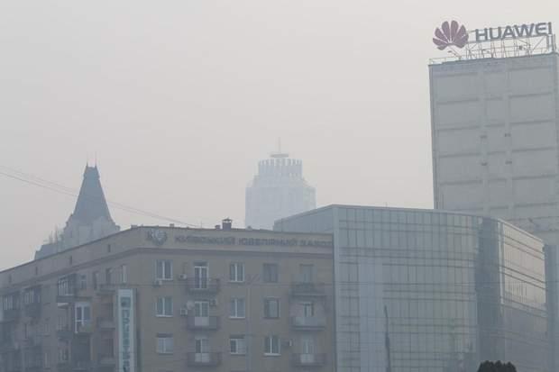 Киев до сих пор на первом месте по уровню загрязнения воздуха из-за дыма от пожаров