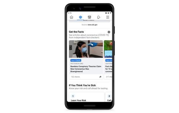 Facebook буде відстежувати користувачів, що лайкають фейки про коронавірус