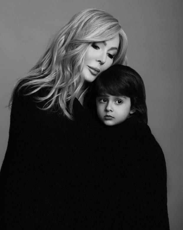 Ірина Білик з 4-річним сином Табрізом
