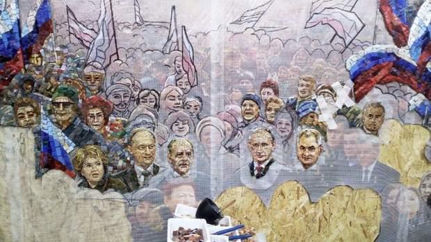храм ЗС Росії, мозаїка з Путіним