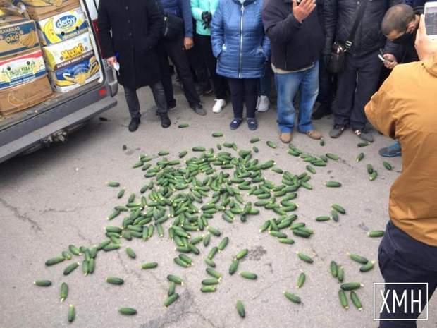В Херсоне фермеры протестуют против закрытия рынков: фото, видео