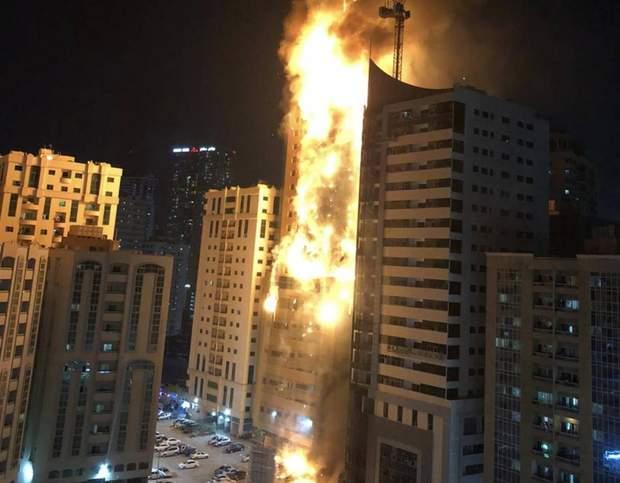 Масштабный пожар небоскреба в ОАЭ: в городе Шарджа пылают 48 этажей дома – фото и видео
