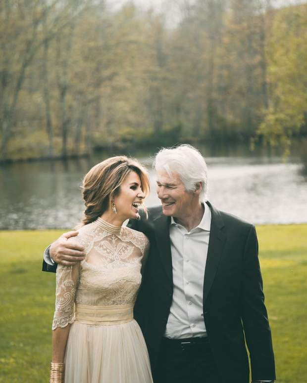 Жена Ричарда Гира опубликовала эксклюзивные фото с их свадьбы