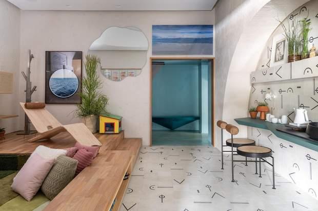 Оздоблення стін та підлоги на кухні ідентичні / фото: Archdaily