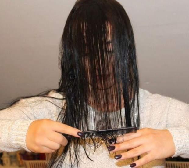 Стрижка на мокре волосся