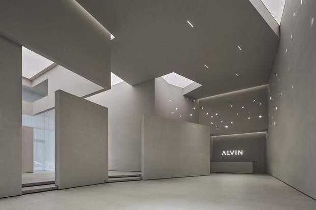 Вбудовані світильники створюють відчуття зоряного неба / фото: Archdaily
