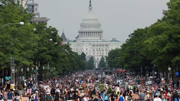 протести у США, Вашингтон
