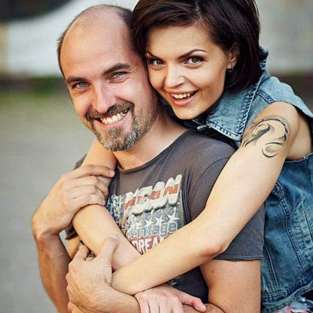 Ольга Фролова  чоловіком Дмитром фото