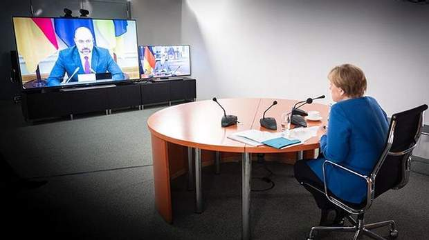 Денис Шмигаль, Ангела Меркель, зустріч