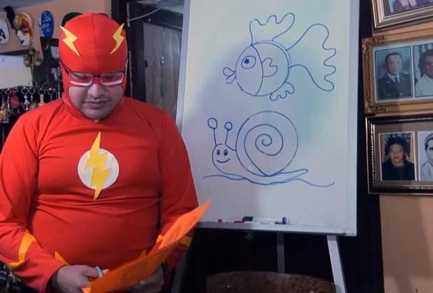 болівійський вчитель викладає у костюмах супергероїв