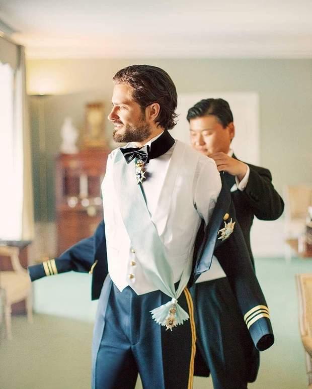 Принц Швеції до церемонії одруження