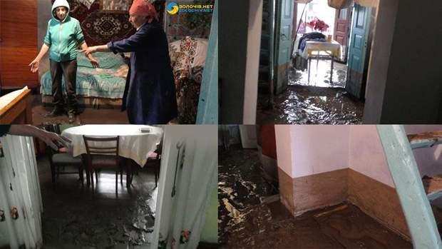 На Львівщині через негоду затопило будинки, земельні ділянки
