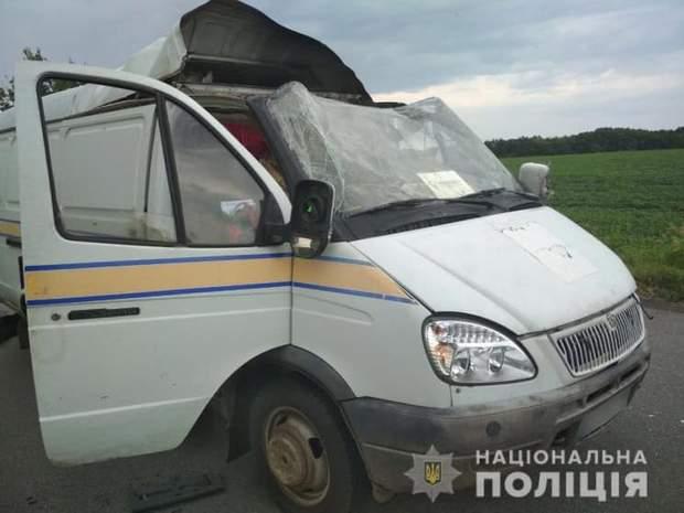 напад на авто Укрпошти, Полтавська область