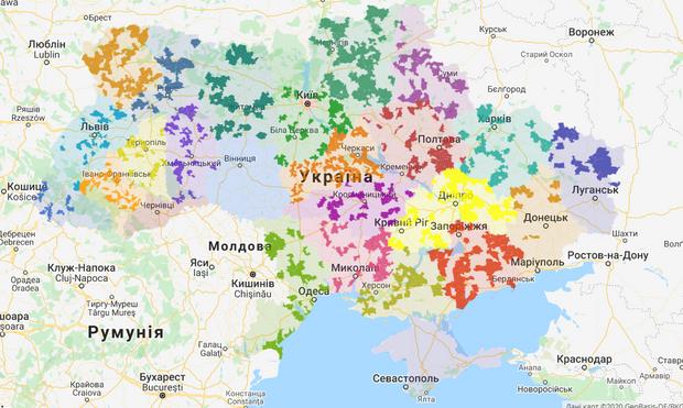 ОТГ в україні, карта