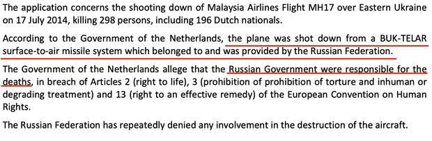 Кремль ответственен за смерти, – Европейский суд зарегистрировал иск против России в деле МН17