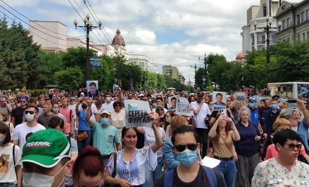 чому в російському хаборовську протестують