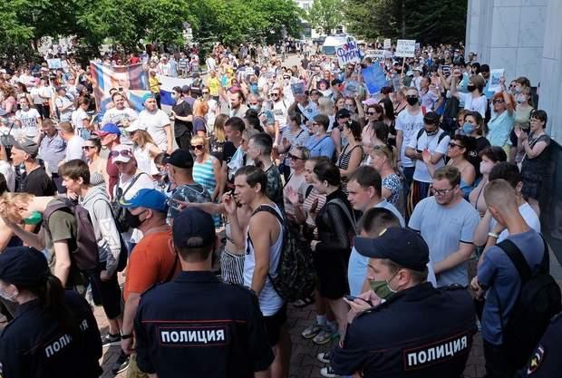 хабаровск протестует