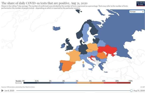 коронавірус в україні статистика найгірші показники в європі