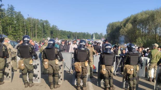 хасиди, кордон з Білоруссю