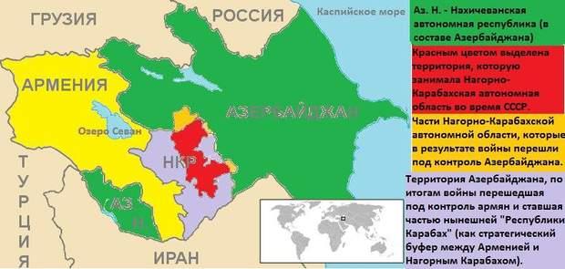 війна за Нагірний Карабах, карта