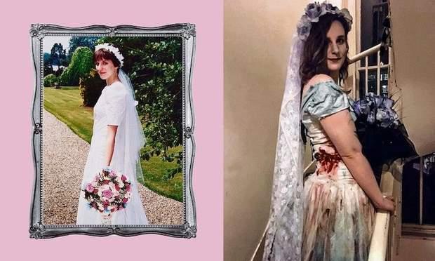 Свадебное платье для дочери на Хэллоуин