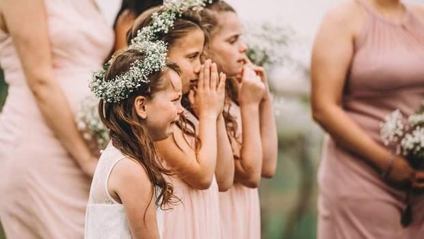 Діти плачуть на церемонії