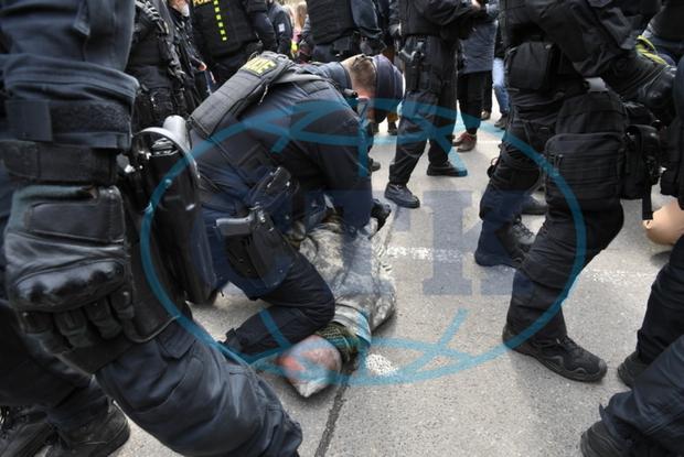 протест в Праге против России