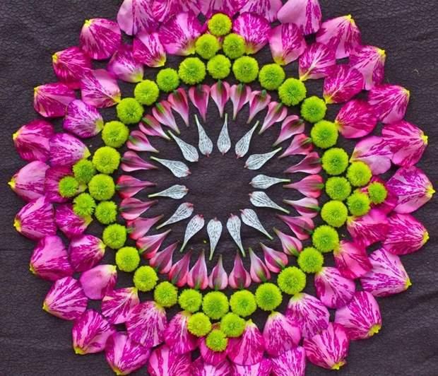 Мандали з квітів