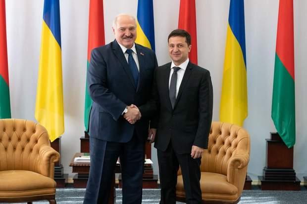 Володимир Зеленський та Олександр Лукашенко