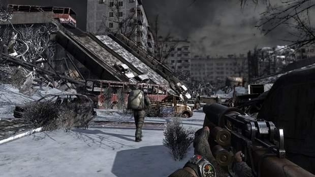 Скриншот з гри Metro 2033
