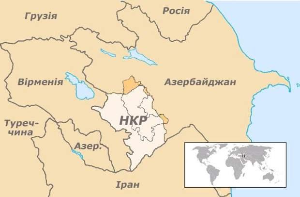 Нагірний Карабах, карта