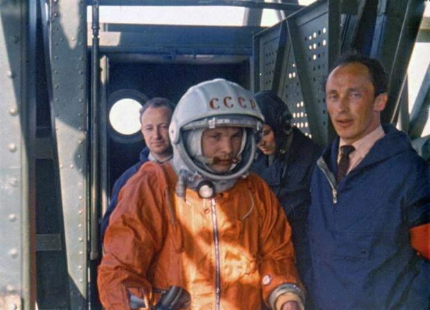 Юрій Гагарін перед польотом