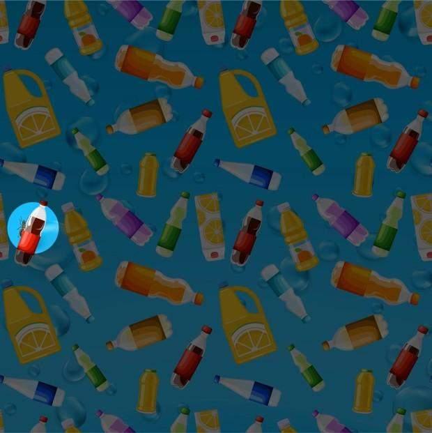 Знайдіть мурашку серед пляшок