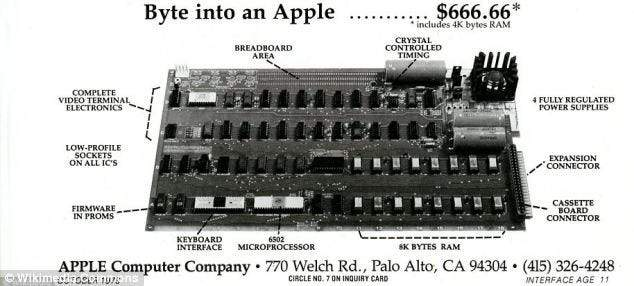 так виглядав Apple I