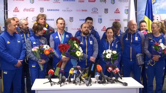 Як зустріли українських олімпійців вдома (відео)
