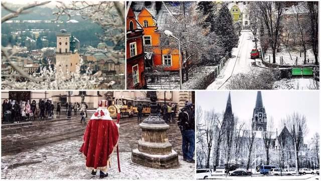 Львов засыпало снегом: сказочные фото из соцсетей