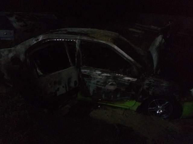 На Днепропетровщине сожгли авто россиянина с проукраинскими взглядами