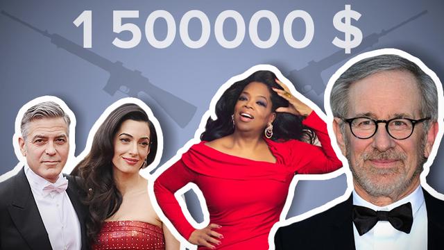 Звезды Голливуда пожертвовали полтора миллиона долларов на усиление контроля оружия