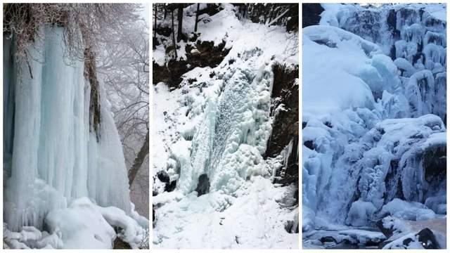 Сильные морозы сковали льдом пять водопадов на Прикарпатье: удивительные фото