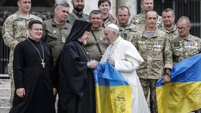 Папа Римский встретился с украинскими военными