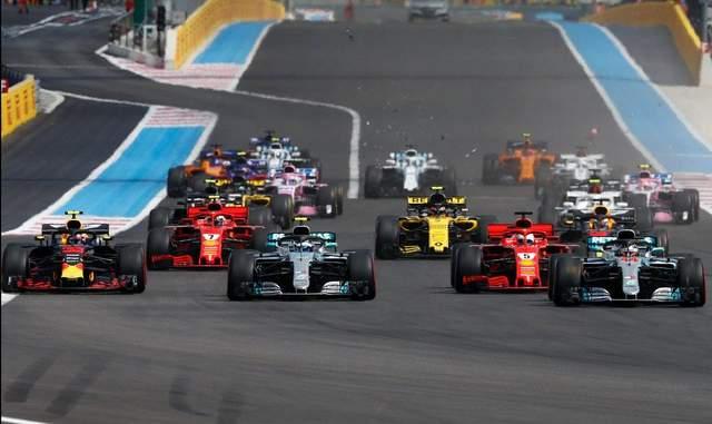 Формула-1: Хэмилтон выиграл гран-при Франции после столкновения на старте