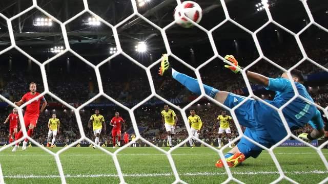 Англия обыграла Колумбию в серии послематчевых пенальти и вышла в четвертьфинал