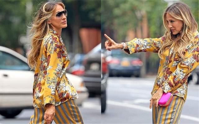 Сара Джессика Паркер продемонстрировала стиль Кэрри Брэдшоу в Нью-Йорке: фото