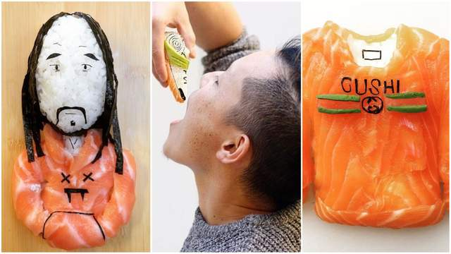 Суши-картины с Канье Уэстом, фламинго и Фридой Кало: чем поражает художник в Instagram