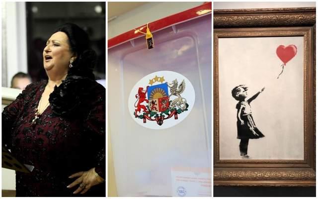 Главные новости 6 октября: умерла Монсеррат Кабалье, выборы в Латвии и новая выходка Бэнкси