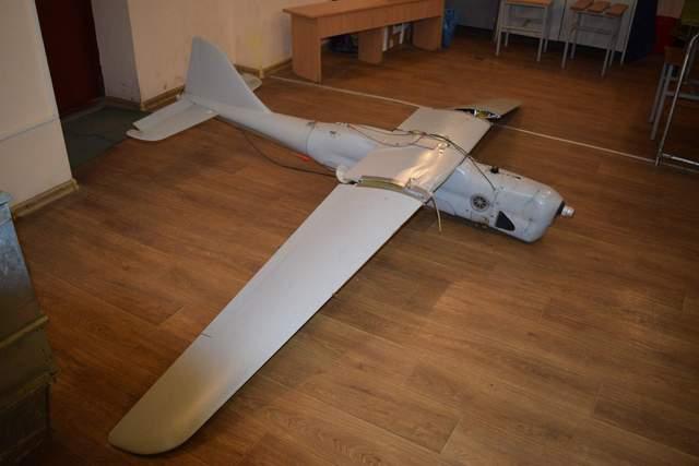Российский беспилотник сбили над Лисичанском: опубликованы фото