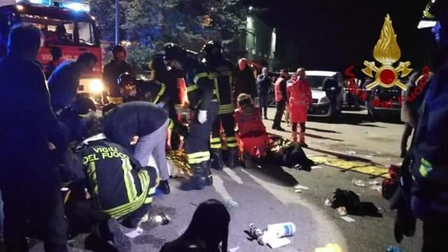 6 человек погибли и более 100 пострадавших в результате давки на рэп-концерте в Италии