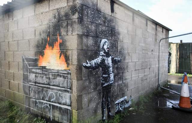 Гаражное граффити Бэнкси продали за кругленькую сумму: фото