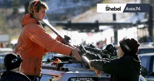 Как перевозить лыжи в машине